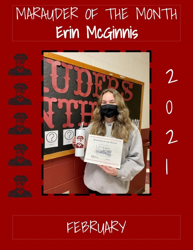 Marauder of the Month - February 2021 - Erin McGinnis