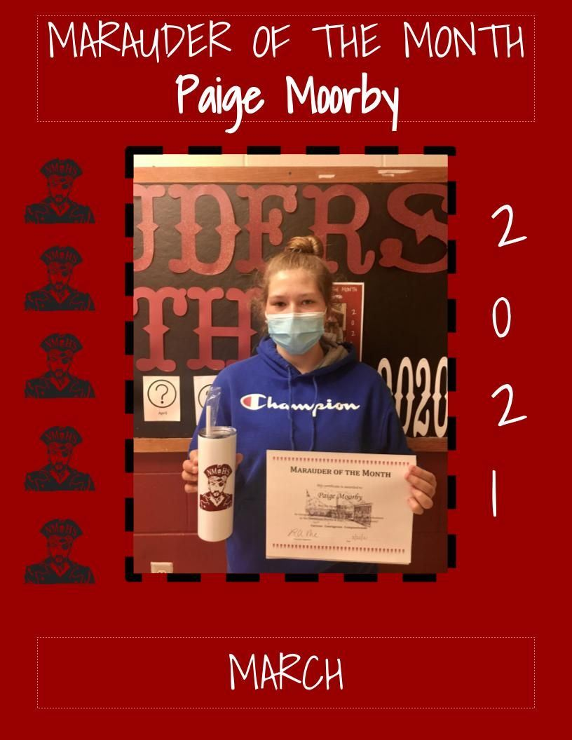 Marauder of the Month - March 2021 - Paige Moorby